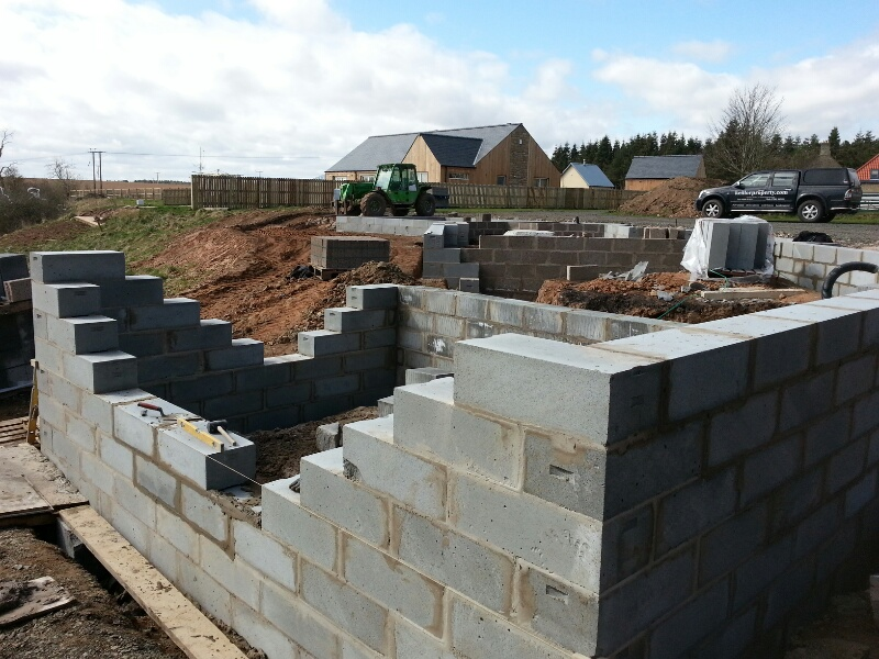 Groundworks including all drainage and Underbuilding blockwork