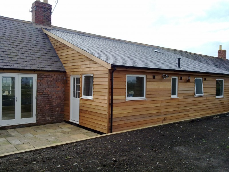 Extensions built traditionally or Timber Frame for speed and improved Insulation Specifications