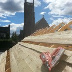 New roof construction to extension